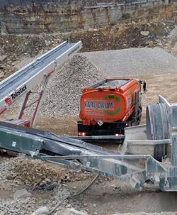 Steinbruch-Baustelle