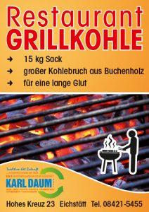 Restaurant Grillkohle grosser Bruch